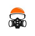 logo face shield mask or face shield helmet vector image