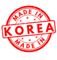 made in korea grunge rubber stamp vector image vector image