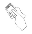 mobile phone in hand e-commerce single icon in vector image