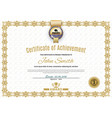 official white certificate of a4 format with beige vector image