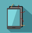 opened phone icon flat style vector image vector image