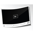Paper video player vector image vector image