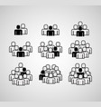 people group icons vector image vector image