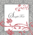 pink and gray damask card vector image