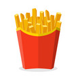 potatoes french fries vector image
