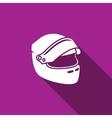 Racing helmet icon vector image vector image