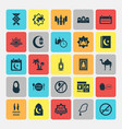 religion icons set collection of illuminator vector image vector image
