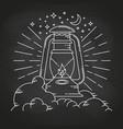 rustic camping lantern vector image vector image
