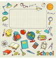 school doodle on page with space for text vector image vector image