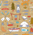 Seamless pattern with adventure equipment vector image vector image