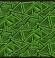 seamless pattern with bright green triangles vector image vector image