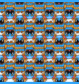 seamless pattern with fantastic cute owl vector image