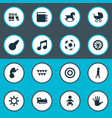set of simple infant icons vector image vector image