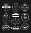set of vintage bottle label design vector image