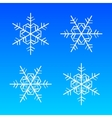 snowflakes white isolated on blue vector image