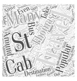 Traveling Around the St Thomas Island Word Cloud vector image vector image