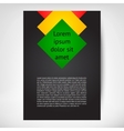 Vertical Flayer leaflet vector image