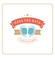 wedding save date invitation card vector image vector image