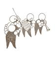 Cartoon band of musicians vector image