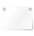 white paper note vector image