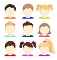 set of child face icons vector image