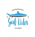 Surf rider t-shirt graphics Vintage style vector image