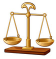 gold classic empty scales vector image