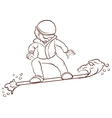 A sketch of a man playing winter sport vector image vector image