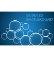 Abstract blue bubbles background vector image vector image