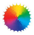 abstraction figure multicolors rainbow design vector image vector image