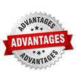advantages round isolated silver badge vector image vector image