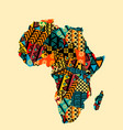 africa map with ethnic motifs pattern vector image vector image
