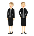 angry female boss vector image vector image