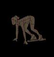 athlete runner runner running vector image vector image