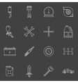Auto service or repair icons set vector image vector image