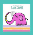 baby shower card template with funny doodle vector image vector image