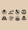 bbq barbecue grill logo or icons labels for the vector image vector image