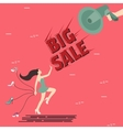 big sale woman girl female shoes shout speaker vector image vector image