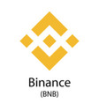 binance cryptocurrency symbol vector image vector image
