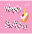 birthday card on a pink background vector image vector image