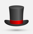 black top hat isolated vector image
