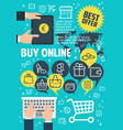 buy online poster for internet shopping concept vector image vector image