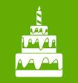 cake icon green vector image vector image