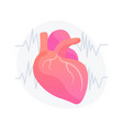 cardiology clinic concept metaphor vector image vector image