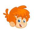 cartoon boy head vector image vector image