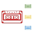 Cassette icon audio tape sign vector image vector image