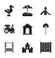 Children entertainment icons set simple style vector image vector image