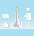 computer startup rocket idea concept vector image vector image