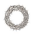 crown thorns sketch hand drawn vintage vector image vector image