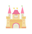 cute fairytale medieval castle fortress colorful vector image vector image